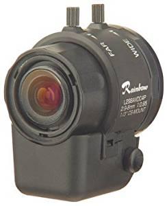 "Rainbow CCTV L298AVDC4P 1/3"" 2.9~8mm, F0.95, Aspheric, DC Auto-Iris with 4-pin, CS-mount"