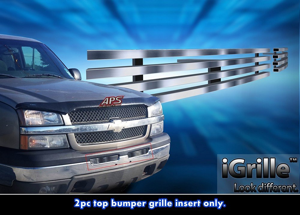 Stainless Steel eGrille Billet Grille Grill For 2003-2006 Chevy Silverado 1500/2500/3500