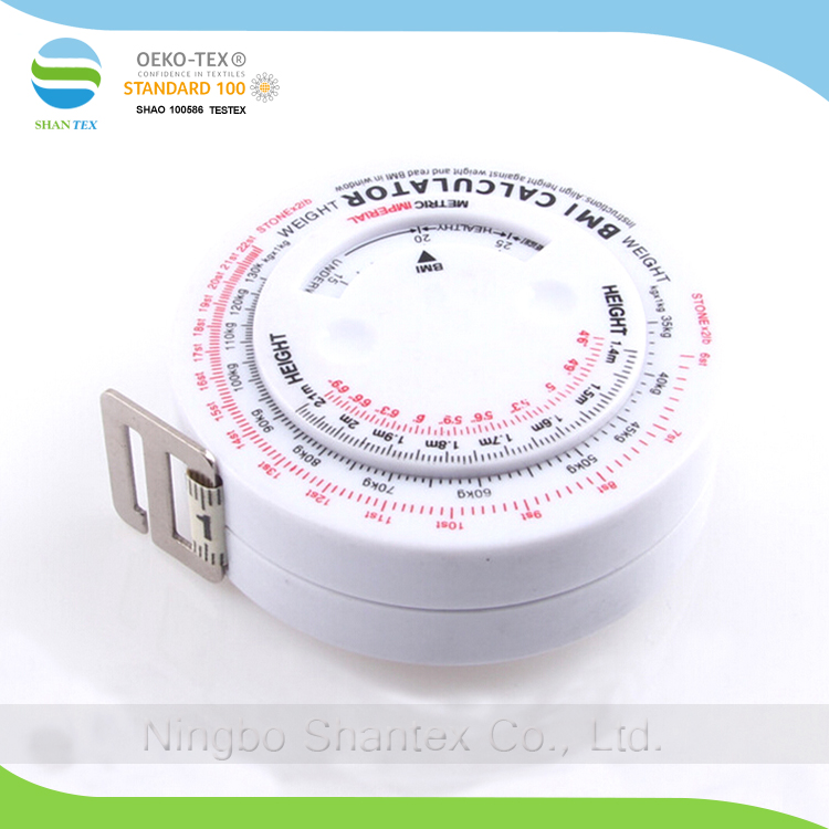 Hot sale 150CM BMI Tape Measure with Weight Sign Indicator and Body Mass Index