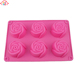 6 Cavities Rose Nonstick Silicone Mold For Cake, Soap, Jelly
