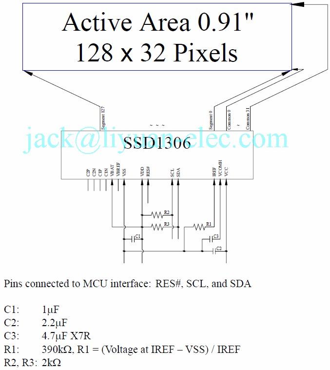 HTB1wnSFQFXXXXbwaXXXq6xXFXXXI 0 91'' inch 128x32 14pin i2c ssd1306 monochrome white iic oled SSD1306 BS2 at bakdesigns.co