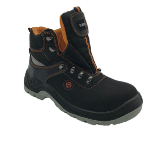 New fashionable genuine leather safety boots safety shoes with steel toe made in china