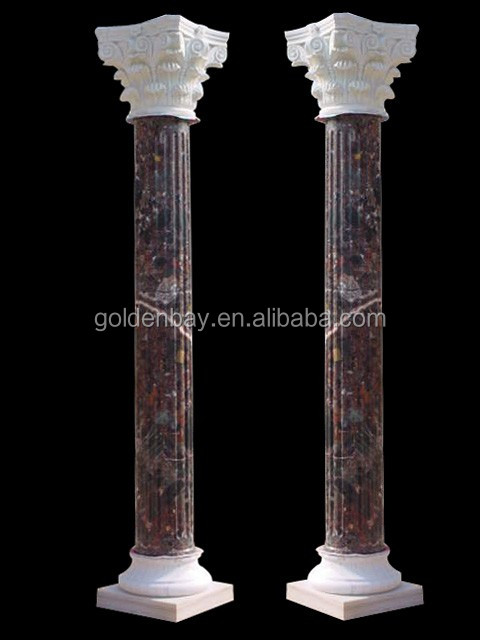 Natural Stone Columns : Golden bay marble natural stone column buy