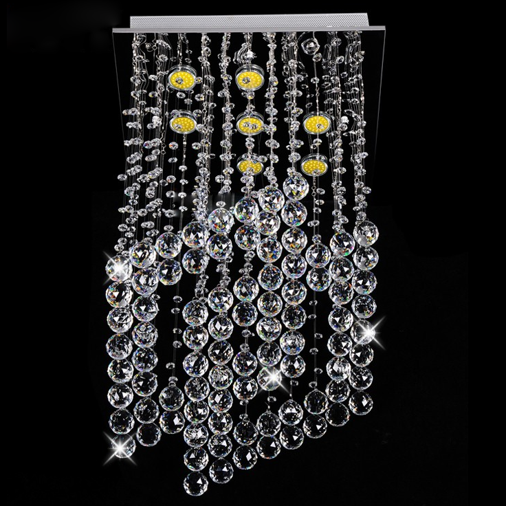 Square diamond crystal chandelier lighting for modern house decoration