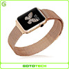 For stainless steel magnetic milanese apple watch band