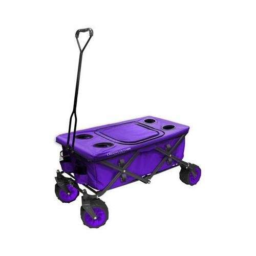 Creative Outdoor Distributors All-Terrain Folding Wagon, Purple