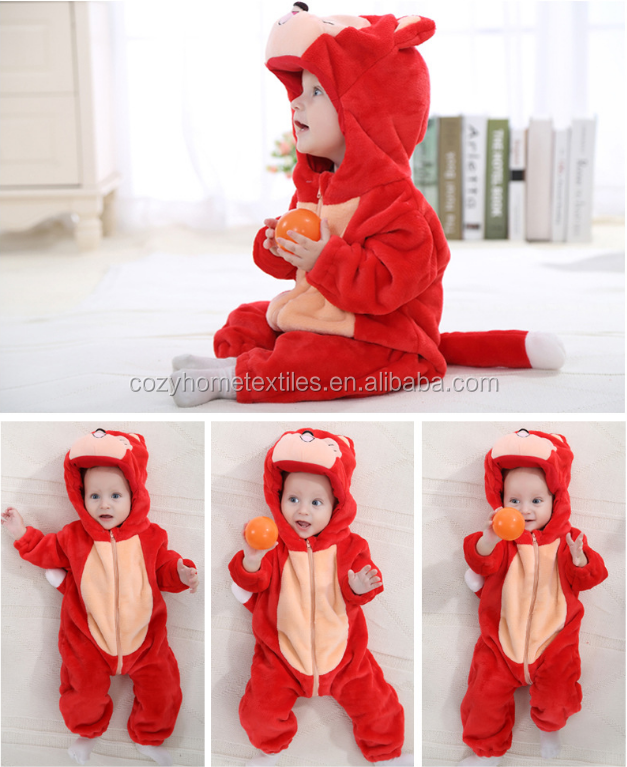 2018 Hot Sale Unisex-baby Animal Onesie Costume Cartoon Outfit Romper