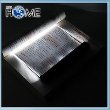 Black Night Flat Led Book Light , Camping Book Reading Light