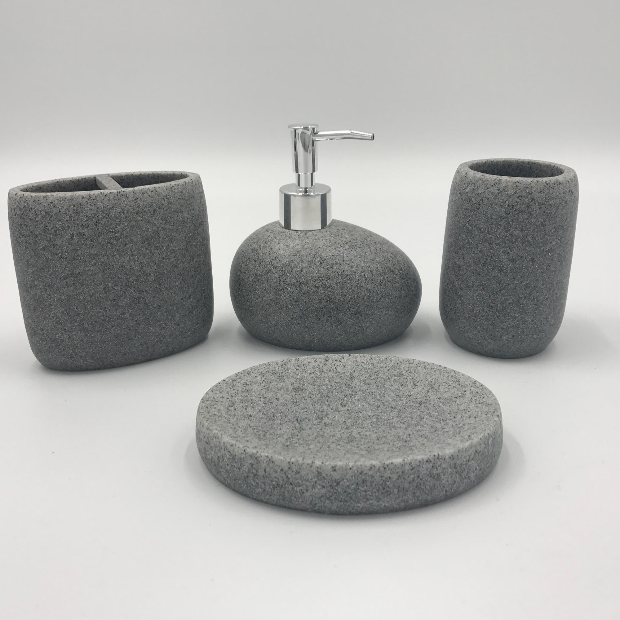 Yellow Sand Stone Resin Bath Accessory Bathroom Accessories Set