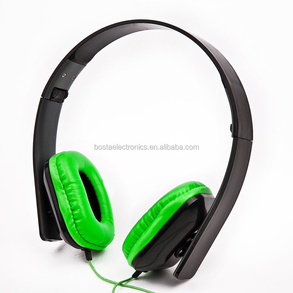 Spring colors Easy Carry Good Price Two Pin Computer Headphone