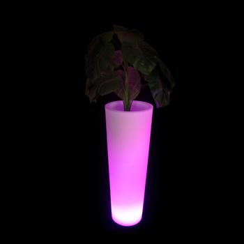 Modern Flower Vasesled Lighted Planter Potstall Plastic Flower