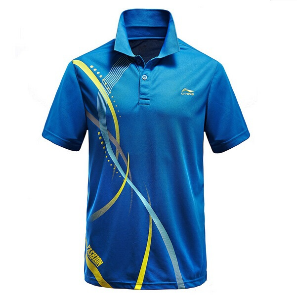 Free Shipping 2015 New Polyester Badminton Sport Polo shirt Lining Men s  and Women s Tennis Polo Team 7dc43163df93