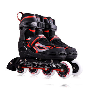 Customized Color Thickened frame 2018 Mexico Hottest selling inline skates model 4 flashing roller skates for adults