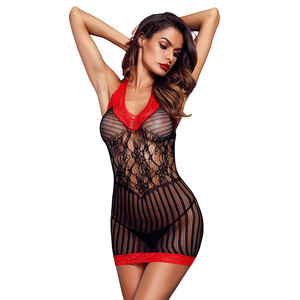 Hot Transparent Erotic Sheer Mesh Lace Babydoll Sexy Teddy Lingerie Chemise Women