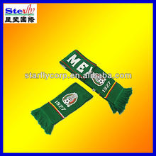 football fans scarf 100acrylic green factory wholesales (ST-SC82)