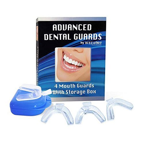 Advanced Mouth Guard Teeth Grinding Dental Night Guards and Teeth Protectors,Offers Great Relief From TMJ ,Bruxism & Teeth Clenching Pack of 4.& A Storage Case