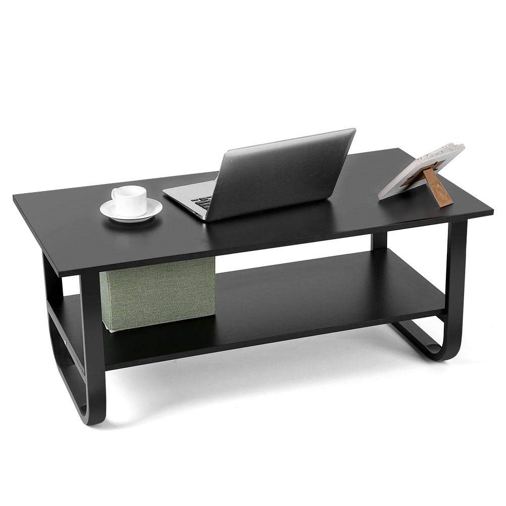 Zerone Home Office Desk,Computer Laptop Desk Home Office Studying Writing Table Modern Style Workstation Writing Desk(Black)