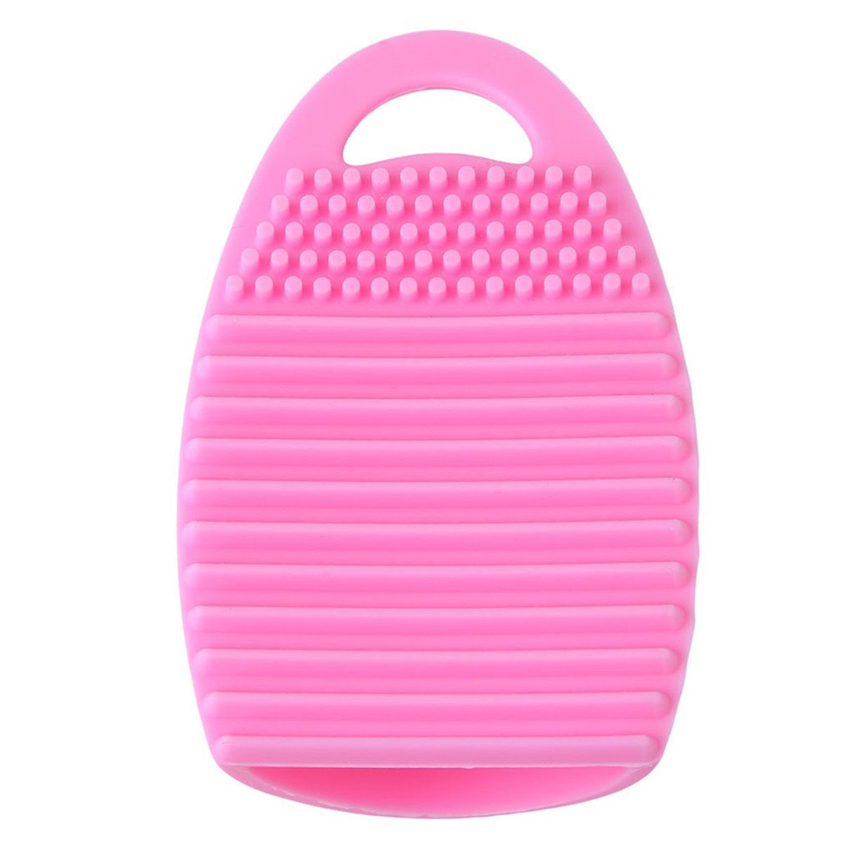 Edtoy Silicone Gel Makeup Washing Brush Cleaner Egg Scrubber Board Tool (Pink)