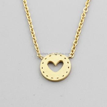 a0d7604d4143 Amor Corazón Abierto Círculo Collar Colgante Para Las Niñas - Buy ...