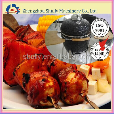 China wholesale BBQ charcoal ceramic smoker for outdoor barbecue
