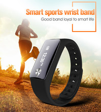 Heart rate smart fit band with NFC Pedoemeter distance calries OLED displayed waterproof IP65 fitness tracker smart watch band