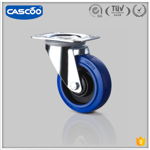 CASCOO 4 inch blue elastic flight case hardware caster <strong>wheel</strong>, accessories for flight case