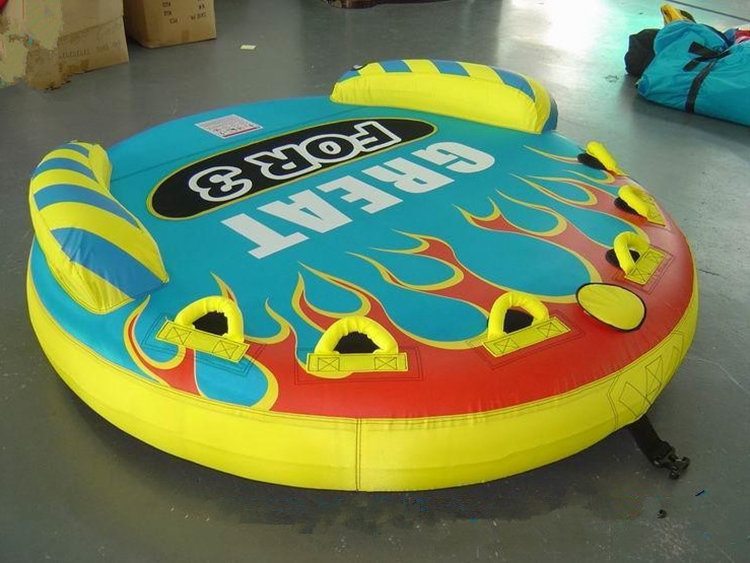 Factory price OEM 3 riders inflatable towable raft air float water sports inflatable towable tube tubing