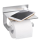 Gricol Toilet Paper Roll Holder Tissue Paper Holder Space Aluminum Rustproof Self Adhesive