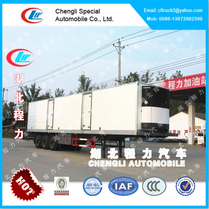 Tri-axle refrigerated trailer sale,refrigerated cargo trailer