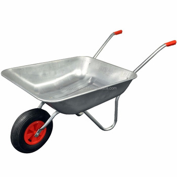 100 Kg Metal Garden Patio Cart Heavy Duty Galvanised Wheelbarrow Wagon  Rubber Wheel Pushcart Transporter Wb5024A