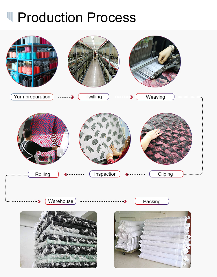 Many years factory 100% cotton leopard jacquard fabric