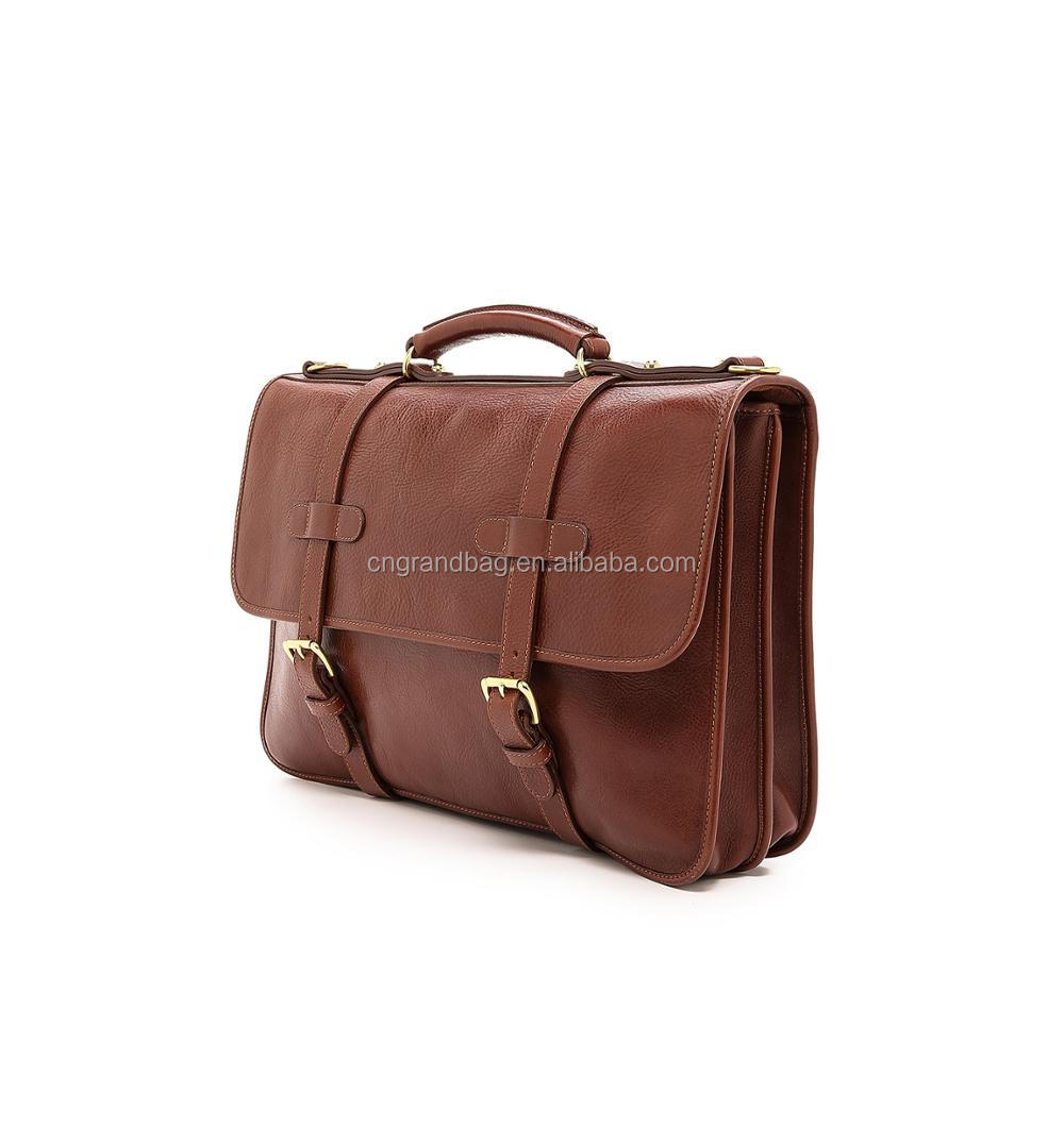 classic style men shoulder bag leather laptop messenger bag