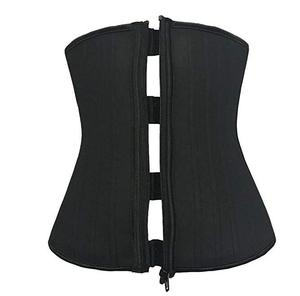 ecowalson Zip Cincher 25 Steel Bone Waist Cincher Latex Waist Trainer Training Corset