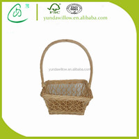 Wholesale Wicker Fruit Vegetable Basket Artificial Flower Basket Decoration