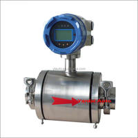 electromagnetic water flow meter sensor 4-20mA output RS485