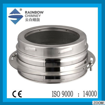 Ce Double Wall Stainless Steel Boiler Chimney Base Wall