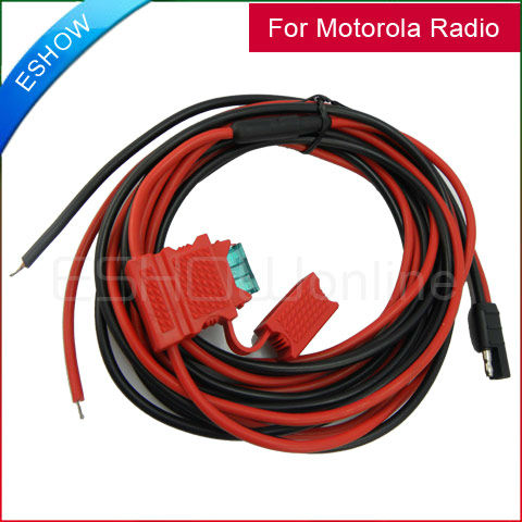 DC Power Cable 3M HKN9402 for Motorola Mobile Radios GM300 GM3188 PRO3100 CDM750