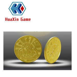 Game token coin count machine amusement brass embossed token arcade game mid-hole token
