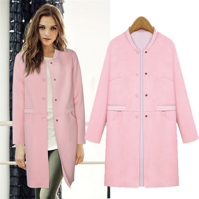 Pink coats for women