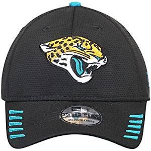 factory price b42a3 71cf0 Get Quotations · New Era Men s Jacksonville Jaguars Tech Grade 39THIRTY Flex  Hat Medium Large Black