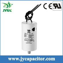 100UF 450V CBB60 taizhou generator motor run capacitor with 2wires and screw