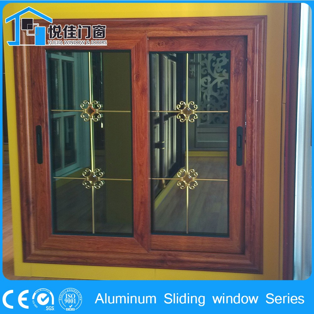 Industrial Metal Sliding Window : Retro pattern window industrial aluminum sliding windows