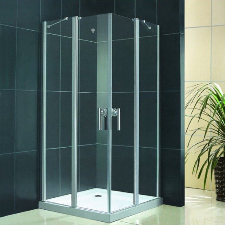 China factory thermal break tempered double glazed pivot glass shower door