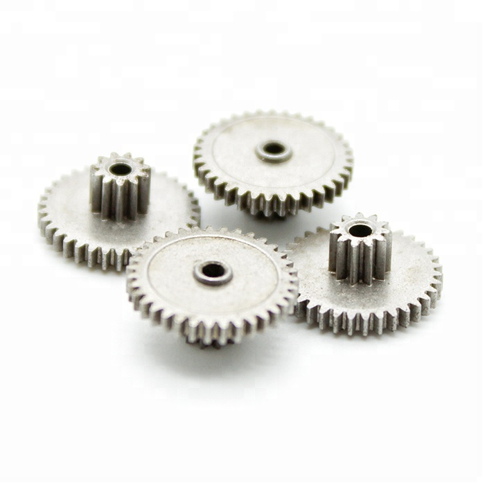 China Supply Double Spur เกียร์ผงโลหะคู่ Spur Gear