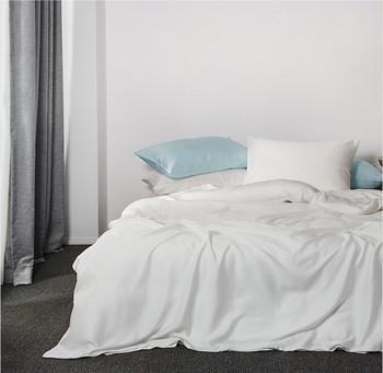 Color Blanco 100% Orgánico De Bambú De Las Sábanas De La