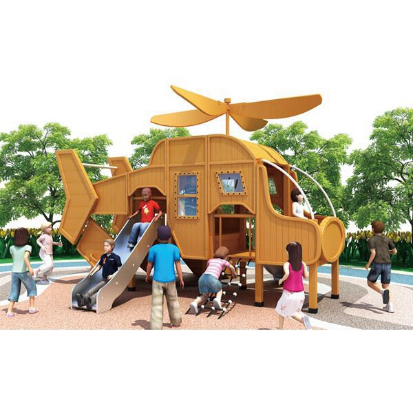Good material  wood  playground hot sales   Outdoor airplane playground equipment for kids