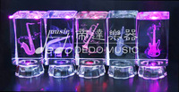 Music note engraved crystal 3D Crystal Laser Engraving Gifts