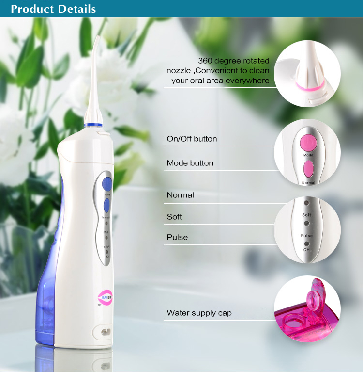 NEUER YASI Cordless Waterflosser Plus Jet Munddusche Dental Pik