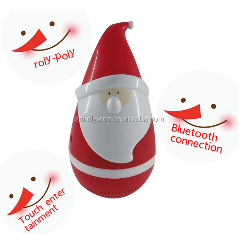 New Wireless Bluetooth Vocal Toys Speakers Good Touch Toy Tumbler Music Santa Claus for Interactive Christmas Gifts