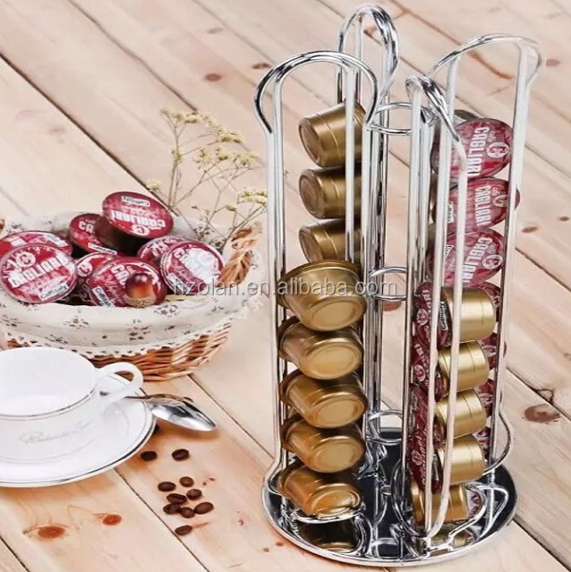 Wholesale Price Coffee Capsule Organizer Holder Metal Stainless Steel Coffee Capsule Organizer Rack